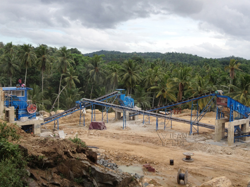 150t/h basalt crushing plant applied in Sri Lanka